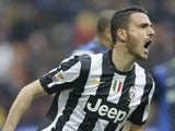 Juventus defender Leonardo Bonucci during the match against Inter Milan on March 30, 2013