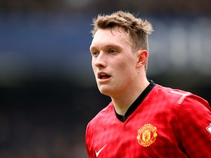 Manchester United's Phil Jones in action on April 1, 2013