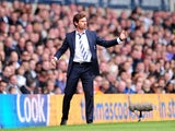 Tottenham Hotspur manager Andre Villas-Boas on the touchline during the match against Manchester City on April 21, 2013