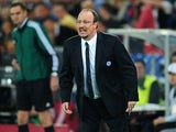 Chelsea interim manager Rafael Benitez during the match against FC Basel on April 25, 2013