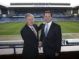 Rangers chairmen Malcolm Murray welcomes the appointment of Craig Mather as the new chief operating officer and interim chief executive on April 24, 2013