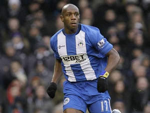 Wigan Athletic's Emmerson Boyce during the Premier League match against Fulham on January 12, 2013