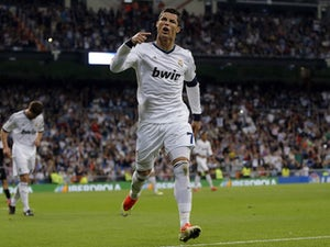 Real Madrid's Cristiano Ronaldo celebrates his 200th goal for the club on May 8, 2013