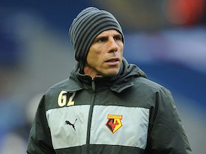 Watford boss Gianfranco Zola on the touchline during the match against Leicester on May 9, 2013