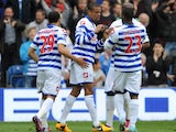 Queens Park Rangers' Loic Remy celebrates scoring against Newcastle on May 12, 2013
