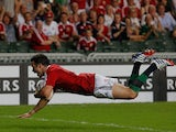 British and Irish Lions' Mike Phillips scores a try against the Barbarians on June 1, 2013