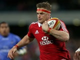 ritish and Irish Lions' Jamie Heaslip in action on June 5, 2013
