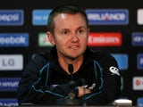 New Zealand coach Mike Hesson at a press conference on June 15, 2013