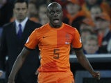 Holland's Bruno Martins Indi in action against Andorra on October 12, 2012