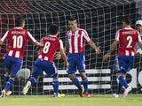 Paraguay's Jorge Rojas celebrates scoring in the Under 20 World Cup match against Mali on June 22, 2013