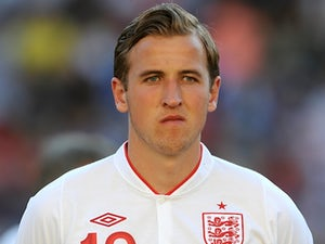 England's Harry Kane before a game with Slovenia on May 25, 2012