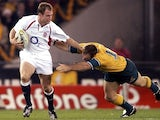 Kyran Bracken in action for England against Australia.
