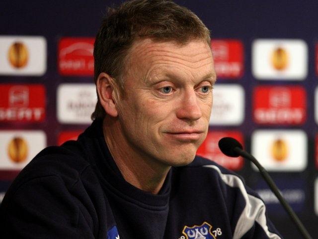 David Moyes at a Europa League press conference.