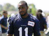 Seattle Seahawks wide receiver Percy Harvin walks off the field following NFL football training camp on June 25, 2013