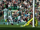 Anthony Stokes of Celtic celebrates after scoring a goal during the Scottish Premier League game between Celtic and Ross County on August 3, 2013