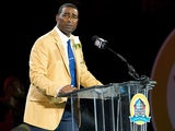 Former Minnesota Vikings' Cris Carter makes his speech during the NFL Class of 2013 Enshrinement Ceremony on August 3, 2013
