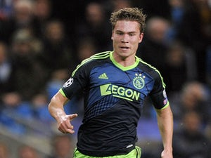 Ajax's Derk Boerrigter during their Champions League Group D match against Manchester City on November 6, 2012