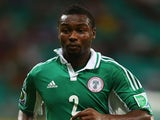 Godfrey Oboabona of Nigeria in action during the Confederations Cup match against Uruguay on June 20, 2013