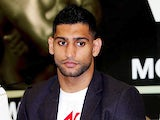 Amir Khan during a Press Conference at Mercure Sheffield St. Paul's Hotel & Spa on April 25, 2013