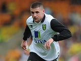 Norwich City's Gary Hooper in action during a friendly match against Panathinaikos on August 10, 2013