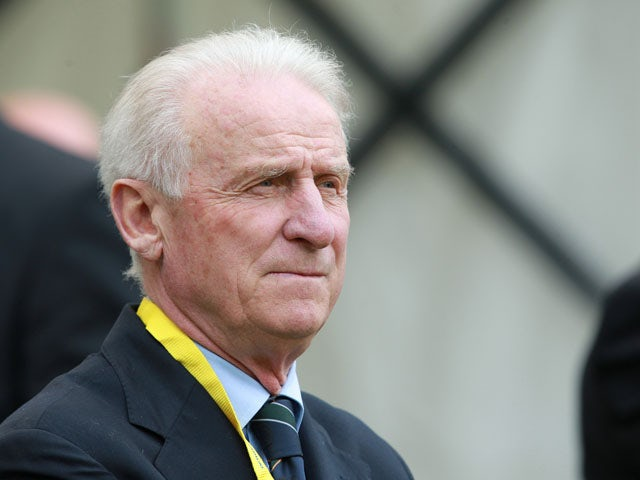 Republic of Ireland's Manager Giovanni Trapattoni before the start of the match with Georgia during a International friendly match between the Republic of Ireland and Georgia at the Aviva Stadium on June 2, 2013