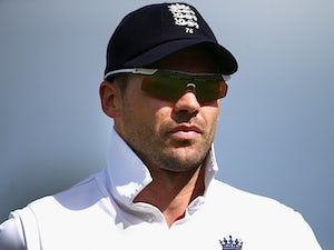 England's James Anderson during day 3 of the 4th Ashes Test at Durham on August 11, 2013