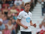 Tottenham Hotspur's Jan Vertonghen in action during a friendly match against Swindon on July 16, 2013