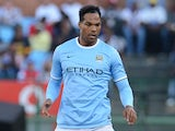 Manchester City's Joleon Lescott in action during a friendly match against SuperSport United on July 14, 2013