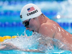 Kevin Cordes of the USA competes during the Swimming Men's 200m Breaststroke on day thirteen of the 15th FINA World Championships on August 1, 2013