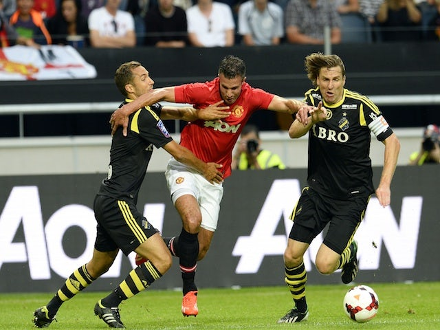 United's Robin Van Persie in action against AIK on August 6, 2013
