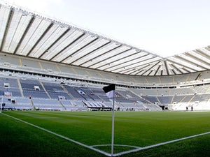 A general view shows the pitch and stands inside of St James' Park the home of English Premier League football team Newcastle United taken on December 3, 2011
