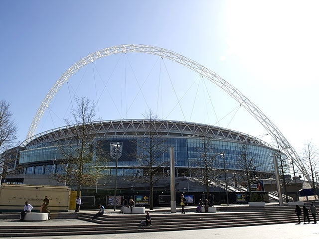 A general view of Wembley Stadium on May 3, 2012