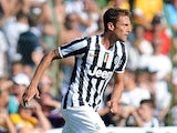 Claudio Marchisio of FC Juventus in action during the pre-season friendly match between FC Juventus A and FC Juventus B on August 11, 2013