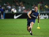 David Vaughan of Sunderland kicks the ball during a Sunderland Barclays Asia Trophy training session at Hong Kong Stadium on July 23, 2013
