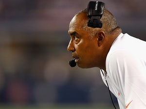 Cincinnati Bengals head coach Marvin Lewis on the sidelines during the game against Dallas Cowboys on August 24, 2013