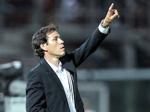 Roma boss Rudi Garcia on the touchline during a game with Livorno on August 25, 2013