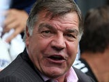 West Ham boss Sam Allardyce in the dugout before kick-off during the match against Newcastle on August 24, 2013
