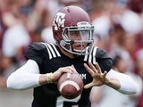 Texas A&M quarterback Johnny Manziel in action on April 13, 2013