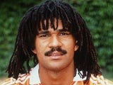 A portrait of Dutch international footballer Ruud Gullit taken in 1990