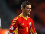 Romania's Gabriel Torje in action during their World Cup qualifier against the Netherlands on March 26, 2013