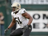 New Orleans Saints' Jonathan Vilma in action against Oakland Raiders on November 18, 2012