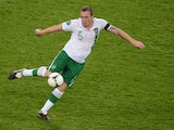 Irish defender Richard Dunne controls the ball during the Euro 2012 football championships match Italy vs Republic of Ireland on June 18, 2012