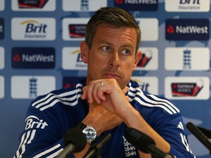 Ashley Giles of England talks during a press conference ahead of the third NatWest One Day International Series match between England and Australia at Edgbaston on September 10, 2013