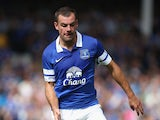 Darron Gibson of Everton in action during the pre season friendly match between Everton and Real Betis at at Goodison Park on August 11, 2013