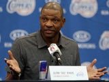 Clippers head coach Doc Rivers is announced to the media on June 26, 2013