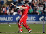 England's Jos Buttler in action during 4th Natwest Series One Day International against Australia on September 14, 2013