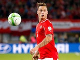 Austria's Marko Arnautovic in action against Ireland during their World Cup qualifying match on September 10, 2013