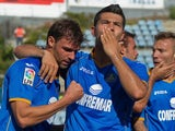 Getafe's Miku celebrates a goal against Osasuna on September 15, 2013