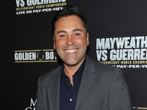 President of Golden Boy Promotions Oscar De La Hoya arrives at a VIP pre-fight party at the WBC welterweight title fight between Floyd Mayweather Jr. and Robert Guerrero at the MGM Grand Hotel/Casino on May 4, 2013