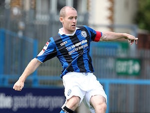 Rochdale's Peter Cavanagh in action against Northampton on August 18, 2012